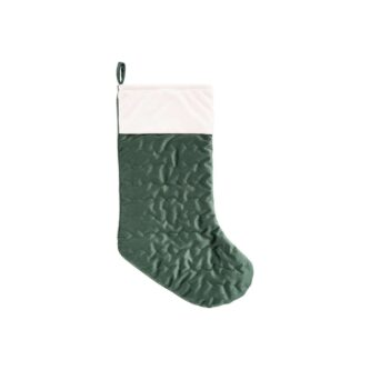 Ivory Cuff Green Velvet Stocking