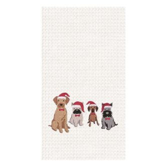 Dogs with Santa Hats Towel