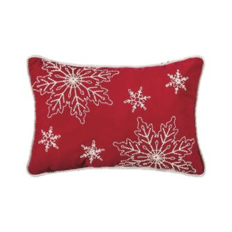 Snowy Holiday Pillow