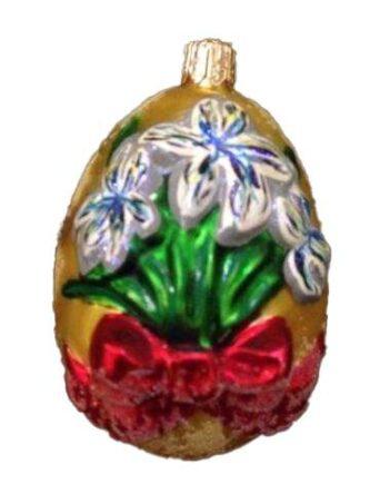 Radko Egg Blossom Iris Ornament