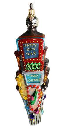 Radko Retired Vintage Times Square Ornament Year 2000