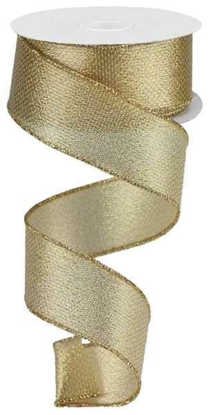 Metallic Gold Wired Ribbon