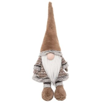 Taupe Gnome Stop Shelf Sitter