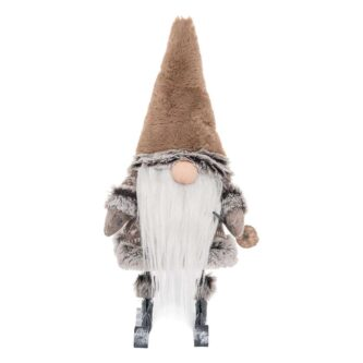 Taupe Gnome on Skis