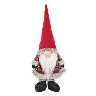 Red Plaid Gnome Shelf Sitter Door Stop