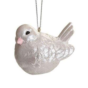 Chubby Dove Christmas Ornament