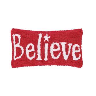 Believe Hooked Pillow