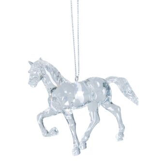 Clear Prancing Horse Ornament