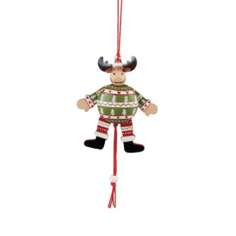 Jumping Moose Ornament