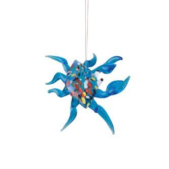 Artglass Crab Ornament