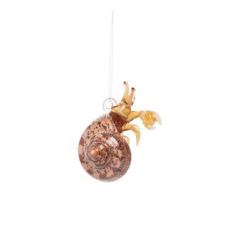 Hermit Crab Shell Artglass Ornament