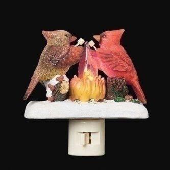Night Light campfire flicker flame Cardinal couple
