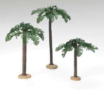 "Fontanini Palm Trees set of three for 5"" scale Nativity"