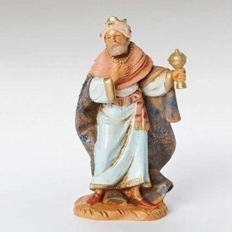 "Fontanini Nativity Piece King Gaspar 5"" Scale"