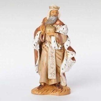 "Fontanini King Melchior Nativity piece 5"" scale"