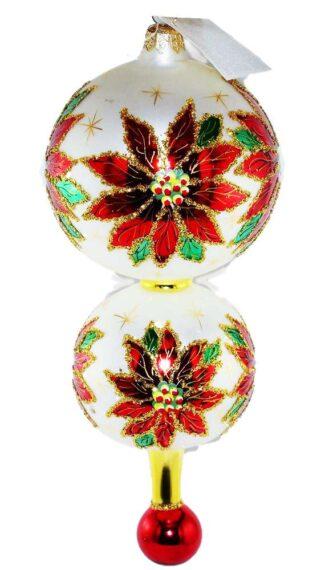 Radko Rare Vintage Double Winter Star Blossom Ornament
