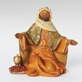 "Fontanini King Balthazar nativity piece 5"" scale"