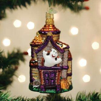 Old World Christmas Haunted House Ornament