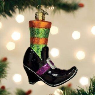 Old World Christmas Witches Shoe Ornament