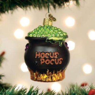 Old World Christmas Halloween Cauldron Ornament