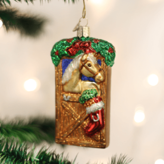 Old World Christmas Horse in Stall Ornament