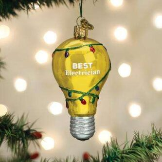 Old World Christmas Best Electrician Ornament