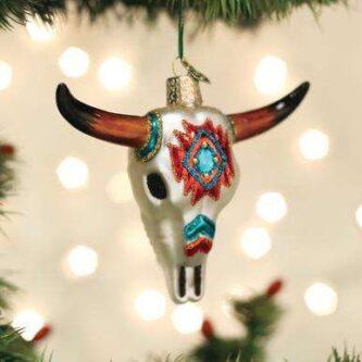 Old World Christmas South Western Steer Skull Ornament