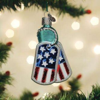 Old World Christmas Military Tags Ornament