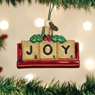 Old World Christmas Joyful Scrabble Ornament