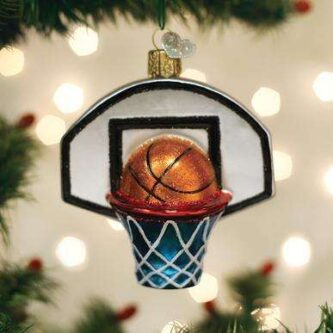 Old World Christmas Basketball Hoop Ornament