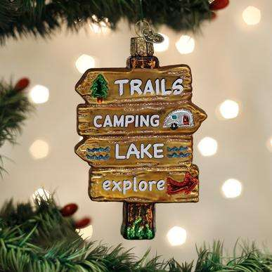Old World Christmas Gone Camping Ornament