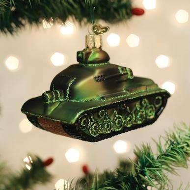 Old World Christmas Military Tank Ornament