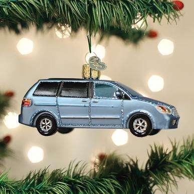 Old World Christmas Soccer Mom Minivan