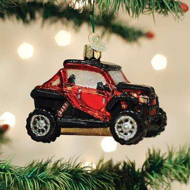 Old World Christmas Side By Side ATV ornament