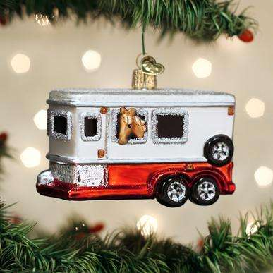 Old World Christmas Horse Trailer ornament