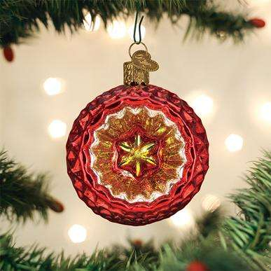 Faceted Crimson Reflection Ornament