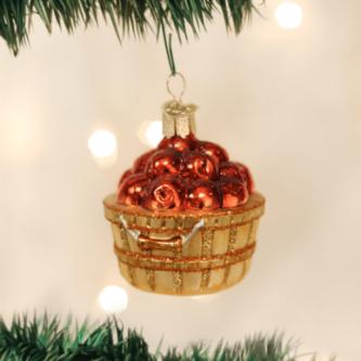 Old World Apple Basket Ornament