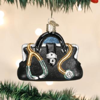 Old World Christmas Doctor's Bag Ornament