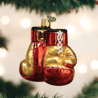 Old World Christmas Boxing Gloves Ornament