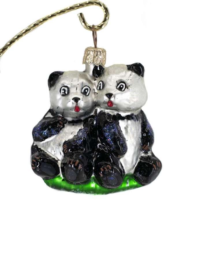 Radko Petite Rare Vintage Retired Panda Ornament
