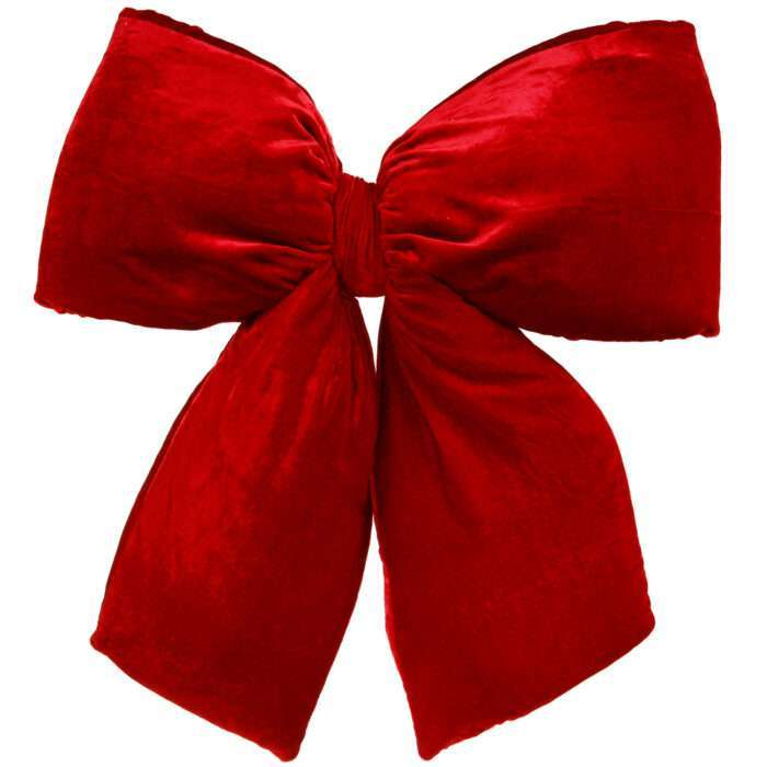 Large red velvet bow indoor use only
