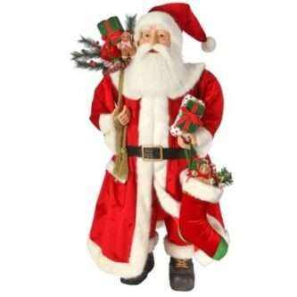 """Candy Kitchen Santa with Gifts 52"""" Tall"""