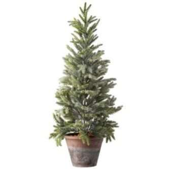 """24"""" Potted Frosted Mini Spruce Tree"""