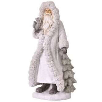 Winter Frost Santa Figurine in Winter Coat