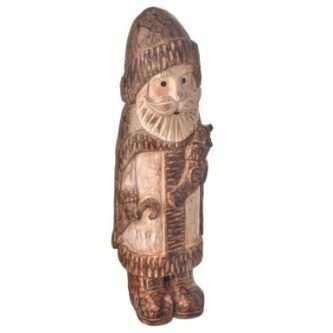 Santa weathered wood carved look figurine