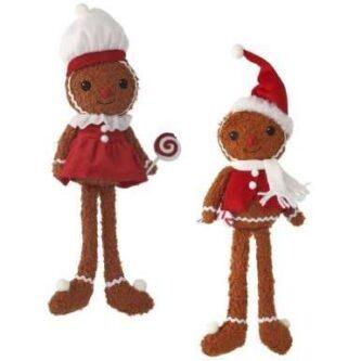 Gingerbread Boy and Girl Shelf Sitter Tall