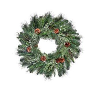 """Juniper Berry wreath with pinecones 30"""""""
