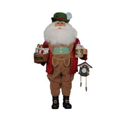 Karen Didion German Santa with nutcrackers, beer stein and cuckoo clock