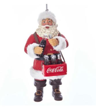 Coca-Cola® Santa Opening Coke Bottle Ornament