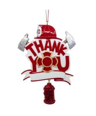 Thank you Firefighter ornament